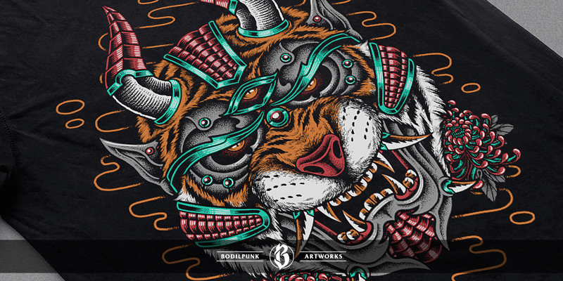 Details - Hannya Tiger