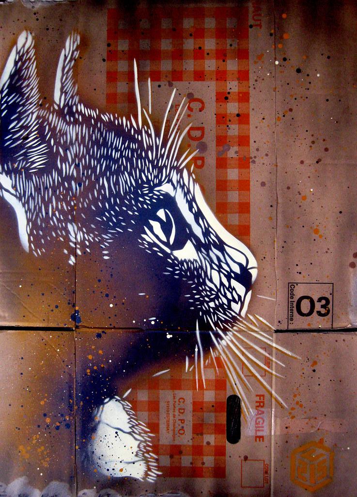 C215 Cat Parallel Universe Show Logan Hicks Amp C215