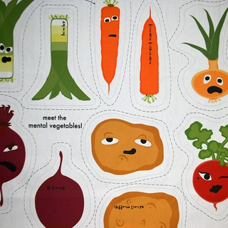 stuffed vegetables: roots | by Spoonflower Fabrics