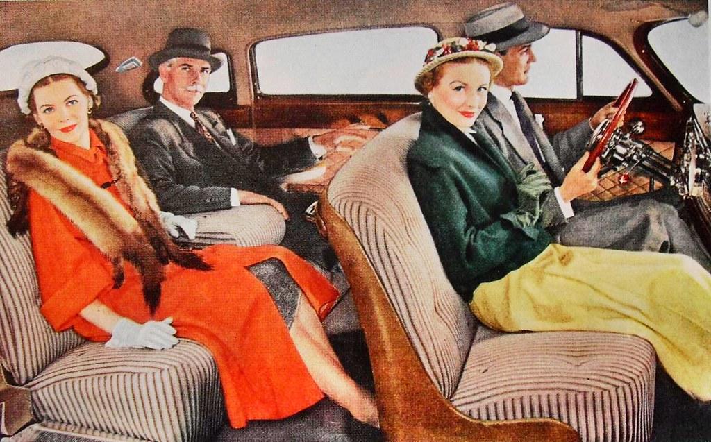 1940s car interior commodore 4 door sedan vintage automoti flickr. Black Bedroom Furniture Sets. Home Design Ideas