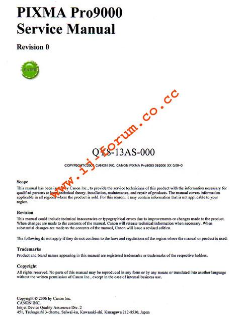 canon pixma pro9000 service manual contains error code li flickr rh flickr com canon pixma pro 9000 service manual canon pixma pro 9000 service manual