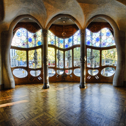 Spain - Barcelona - Casa Batllo Interior - sq v2  To ...