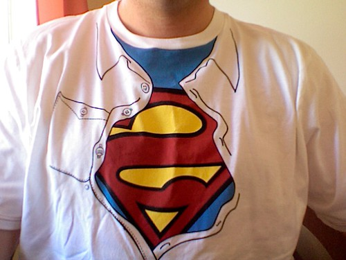 Soaring with this cool birthday t-shirt (it came with an awesome Superman graphic novel) | by Paul Jacobson