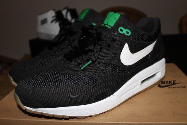 reputable site 5635b 4ce30 ... discount nike air max 1 x patta 4 black white lucky green by 1c00c bb317