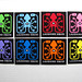 8 Colors of Laughing Squid Stickers