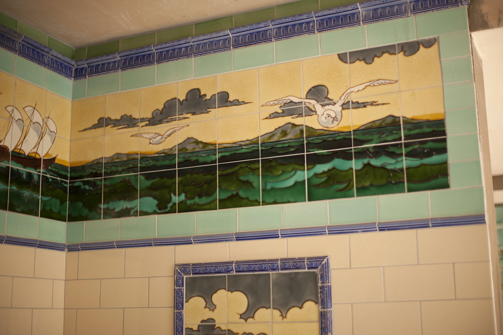 Beamish Fish and Chip shop Tiles | Work is progressing very … | Flickr