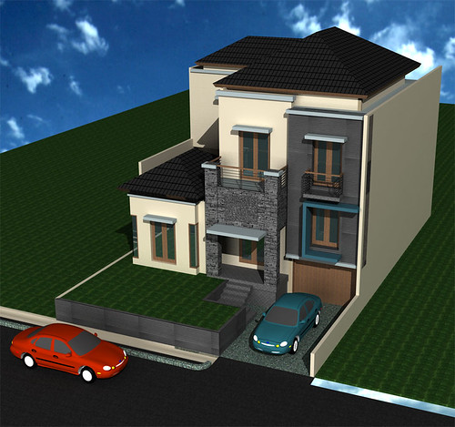 Desain Rumah Split Level Minimalis