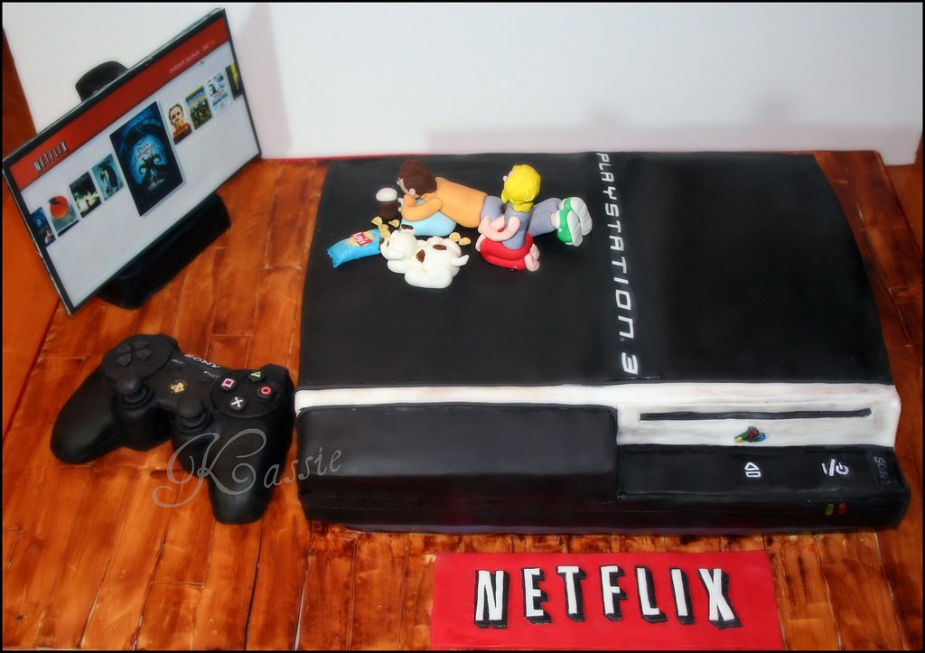 Ps3 Cake Entirely Edible Controller And Tv Are Rice
