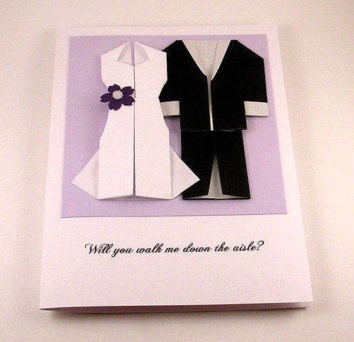 Origami Wedding Card | kittykatkards | Flickr