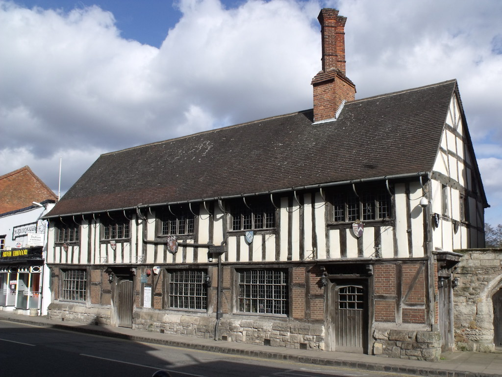 Guildhall Henley In Arden To The Left Of The Historic