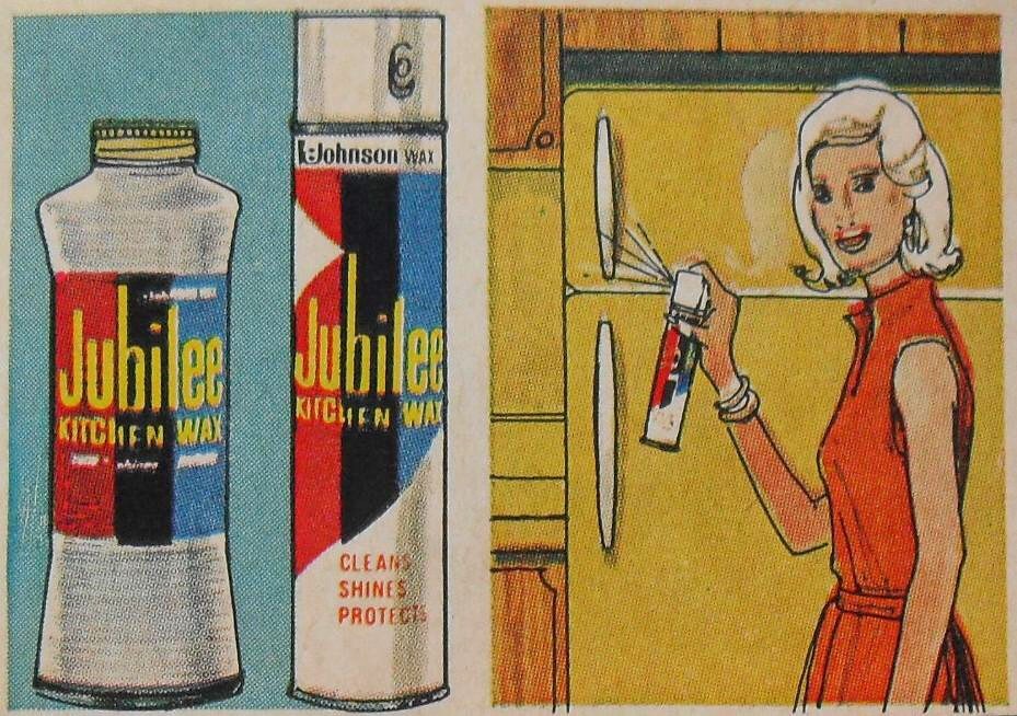 1960s jubilee kitchen wax vintage illustration advertisement by christian montone - Jubilee Kitchen Wax