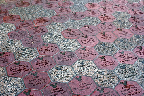 Stone Pavement In Paris : Personalised paving stones on the approach to disneyland p