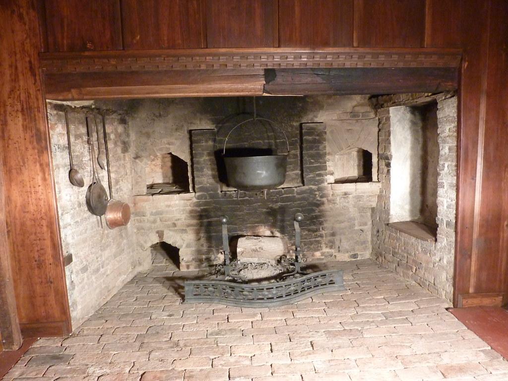 lummus house kitchen fireplace a boynton flickr