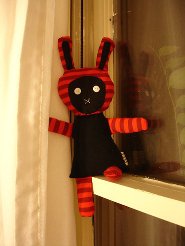 A Plush a Day Challenge: Day 5 - Abigail the Goth Bunny | by Futuregirl_LeahRiley