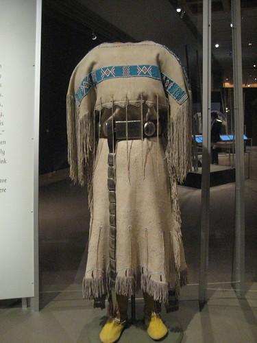 Comanche Three Hide Dress Dress C 1890 Oklahoma Hide