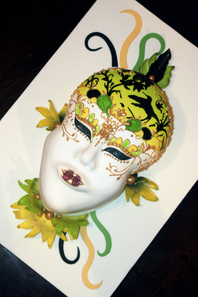 Jamaican Themed Venetian Mask Jamaican Themed Venetian