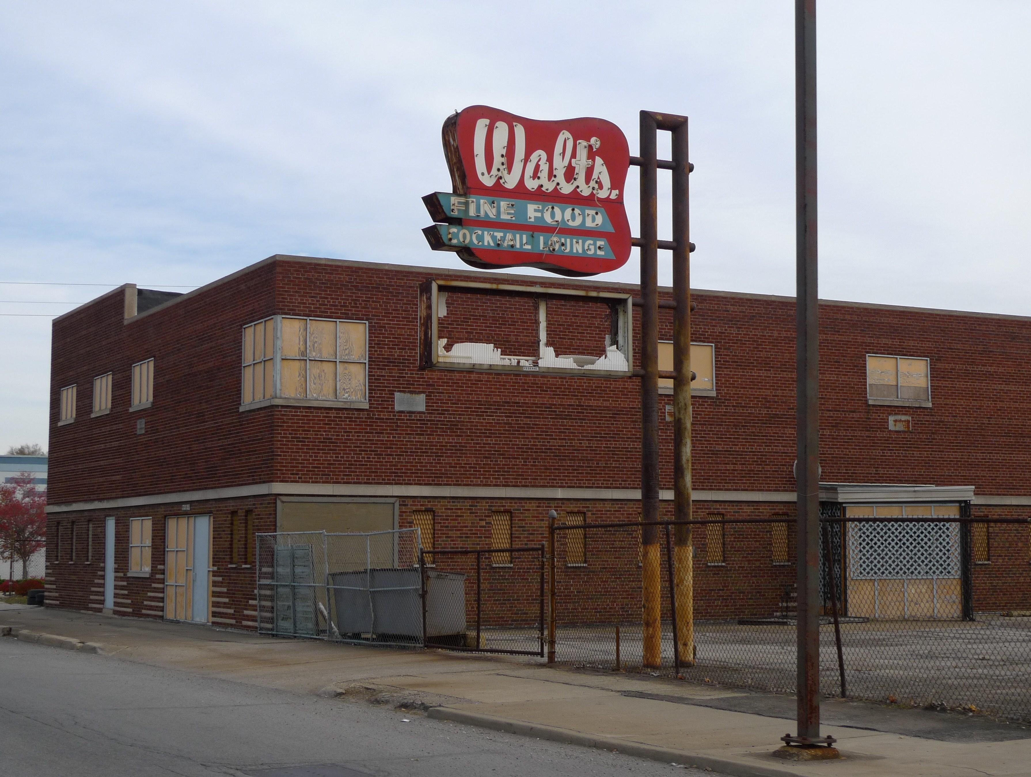 Walt's - along Fifth Avenue (U.S. Route 20), Gary, Indiana U.S.A. - November 13, 2009