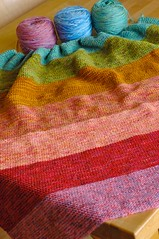 wip wednesday :: rainbow blanket | by waldorf mama