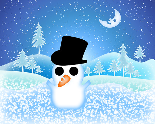 * Snowman Wallpaper * | by pareeerica