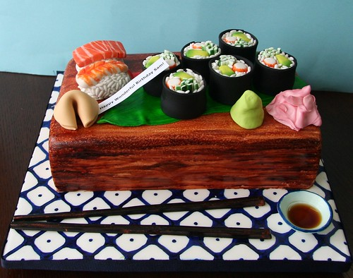 Sushi Cake Cake Design Based On Elisa Strauss Leaf