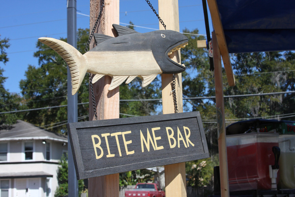 Bite Me Bar Sign | by Sam Howzit