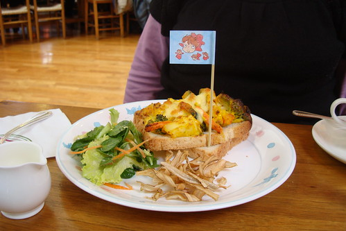 Baked Vegetable Open-faced sandwich at the Ghibli Museum cafe | by maki