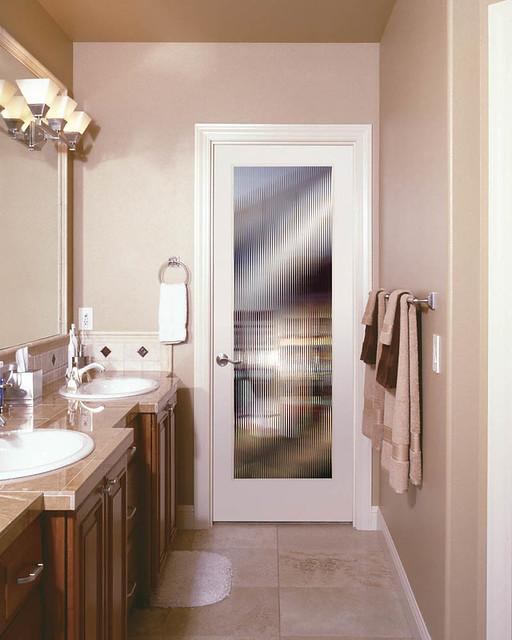 Internal Bathroom Doors: Reeded Bathroom Door- SIGNAMARK Interior Doors