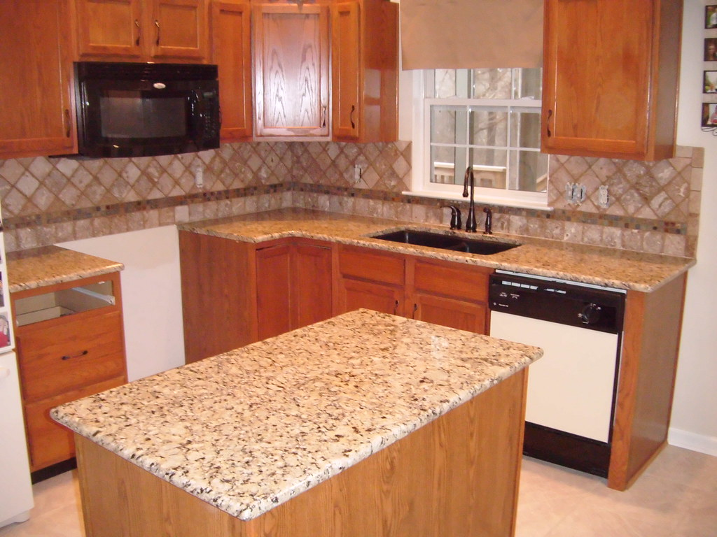 Giallo Napoleon Granite With Tile Granite Charlotte Flickr
