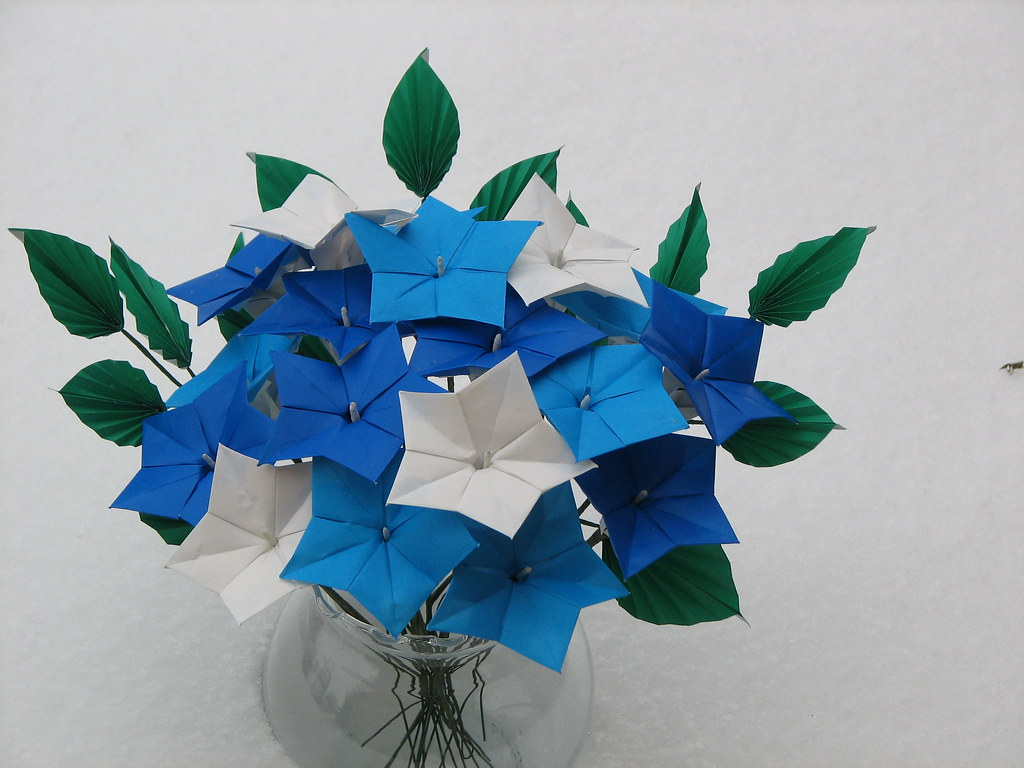 Origami morning-glory | Check out my profile if you would ...