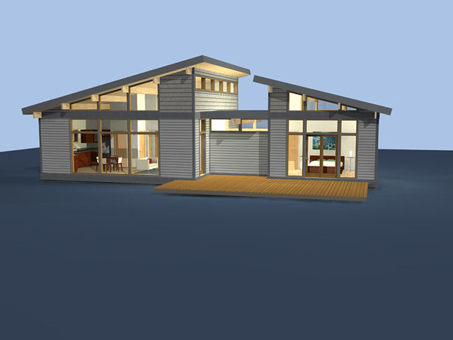 A3 1200 this smart three cube home packs a lot of punch for Lindal cedar home plans
