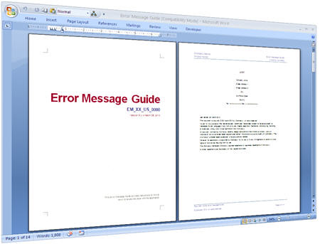 ... Error Messages Guide Templates For Software Testing | By  Http://klarititemplateshop.com  Product Manual Template