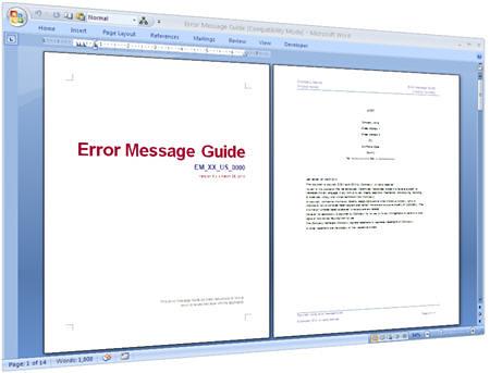 Microsoft instructions template