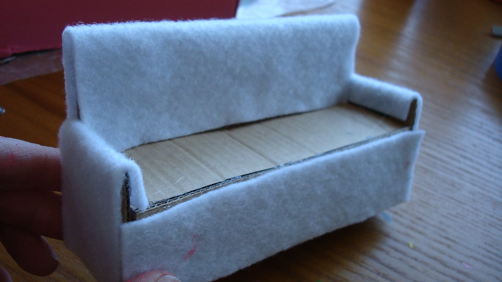 Dollhouse Sofa Mini Tutorial Making A Sofa For My