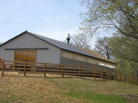 36 x 60 x 10 diy horse pole barn mike gilmore flickr for 24x36 pole barn