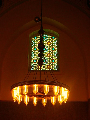 A Turkish Chandelier at Quba - Madinah | by Mystapaki