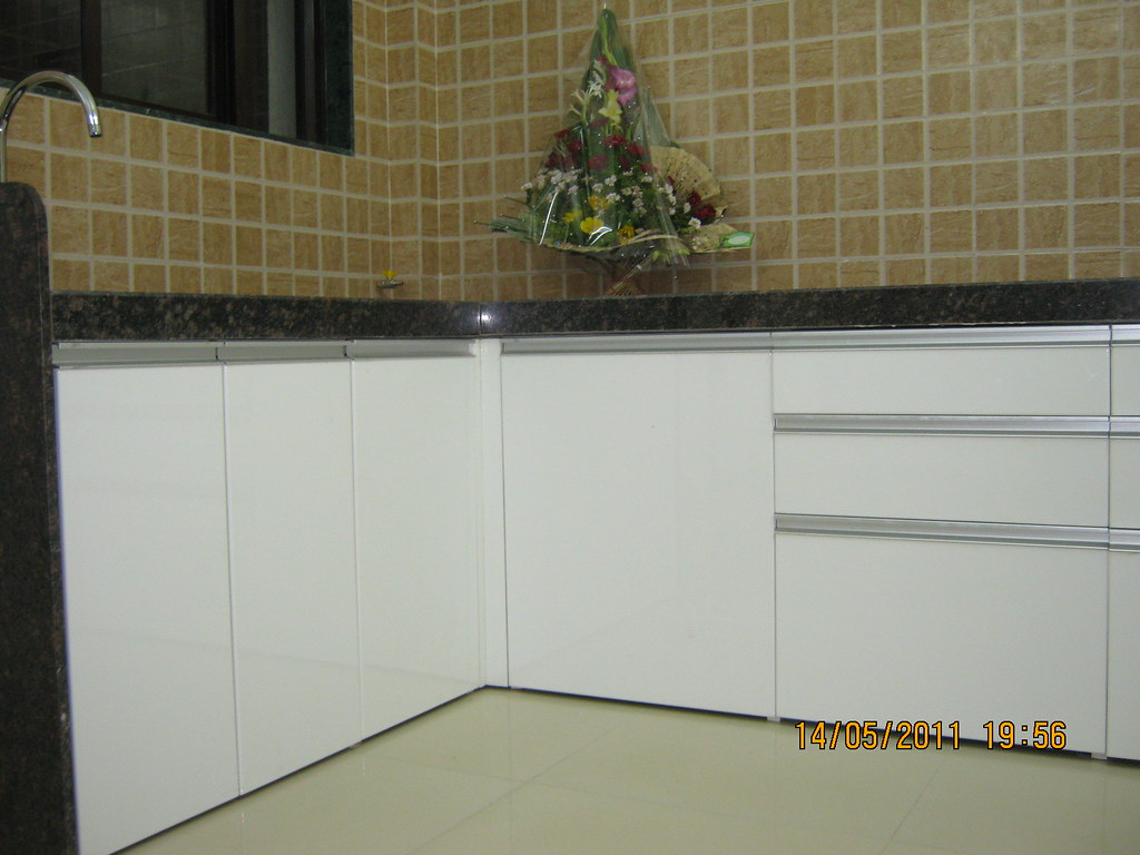 Granite Top Kitchen Trolley Modular Kitchen With Ss Trolleys Granite Top In A 2 Bhk Flickr