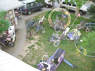 Bird (or cat)'s eye view of a real Wheelman's yard.! | by whymcycles