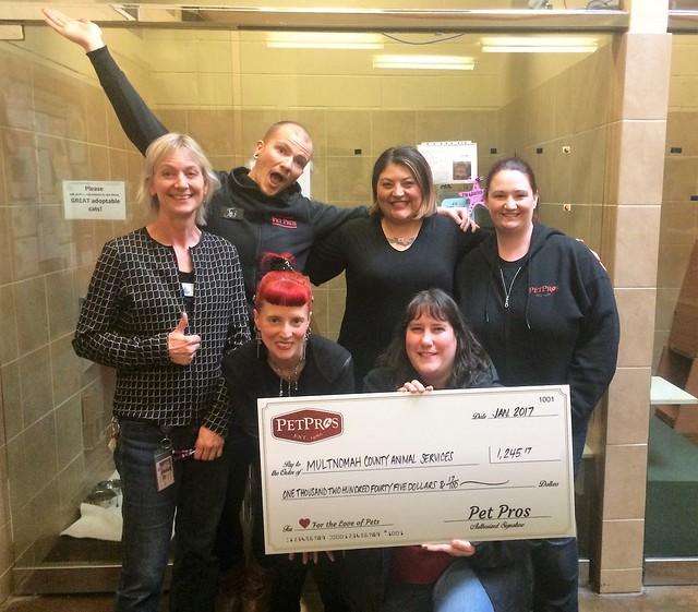 PetPros donation check