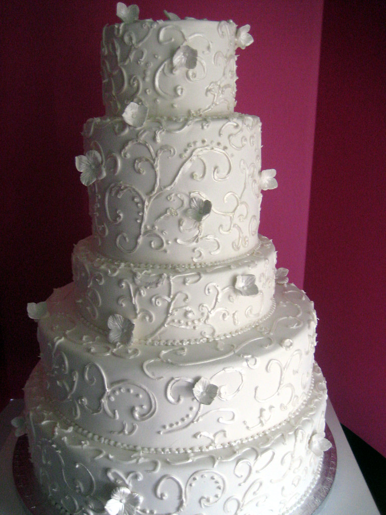 scroll wedding cake rental display cake 10000 to rent
