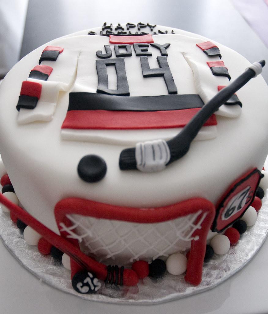 Ice Hockey Themed Cakes