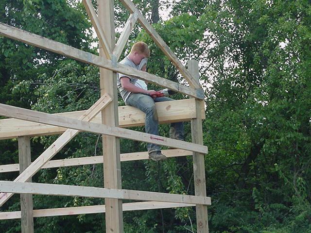 24x40x10 Diy Pole Barn Double Truss Carrier Flickr