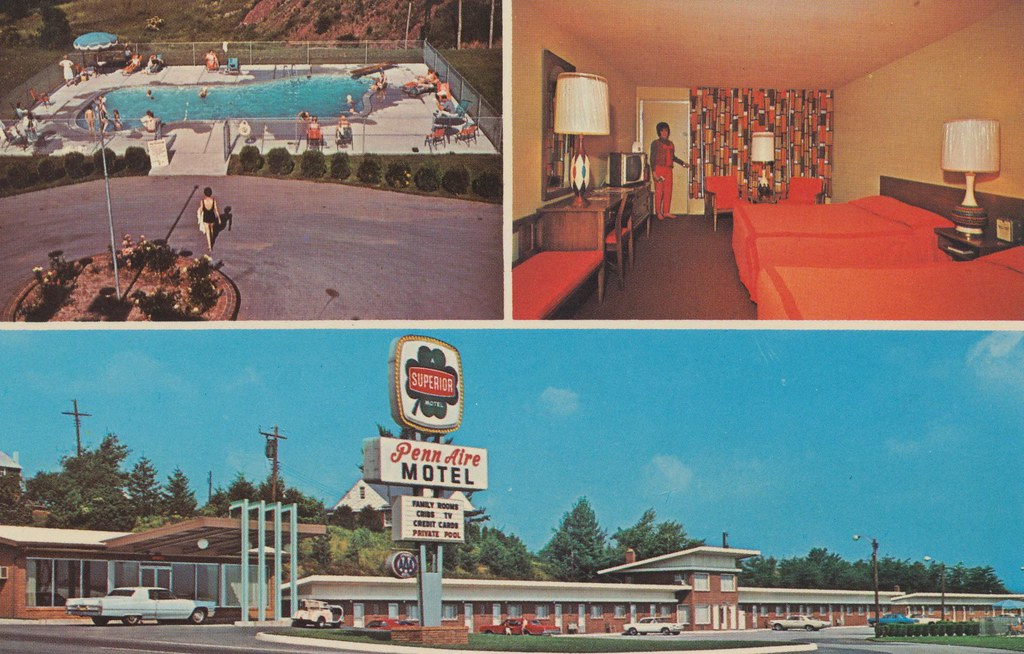 Penn Aire Motel Breezewood Pennsylvania 700 Yards