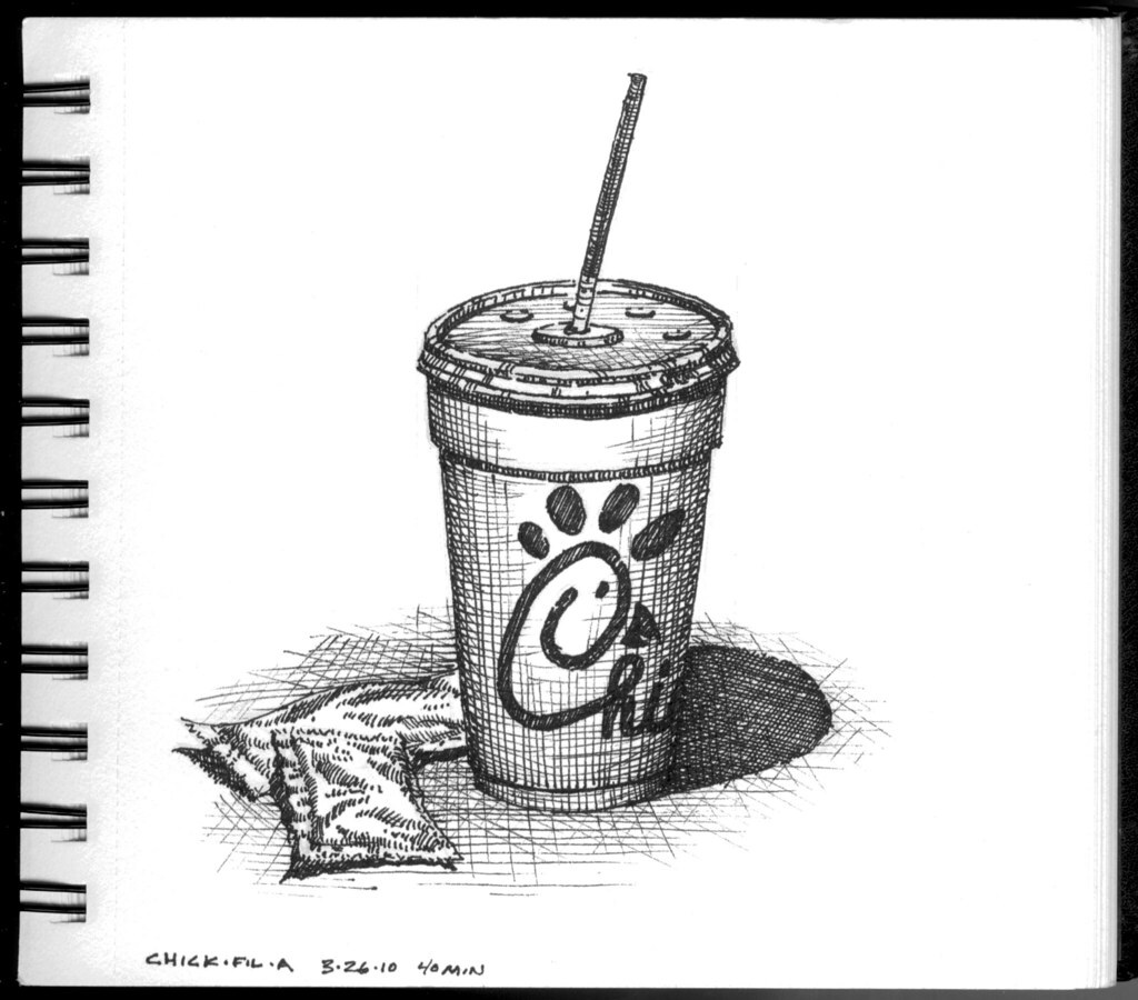 World Cup Draw >> Chic-fil-a cup | Sketch of a Chic-Fil-A cup while the kids p… | Flickr