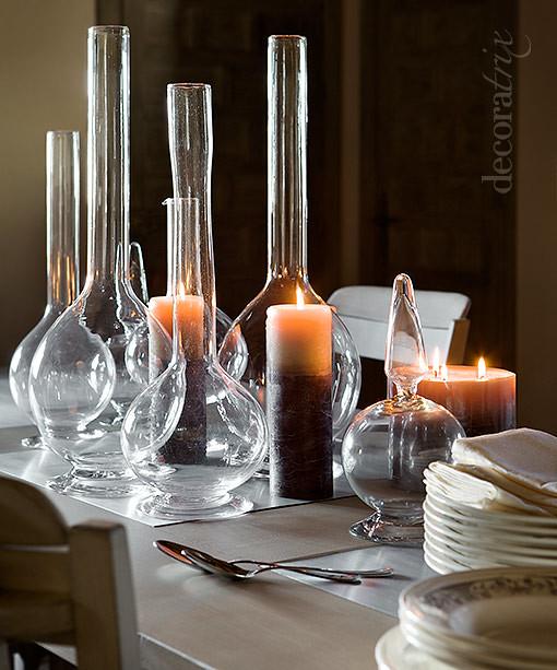Decorar la mesa con cristal y velas 1 nada iguala al for Velas para decorar mesas