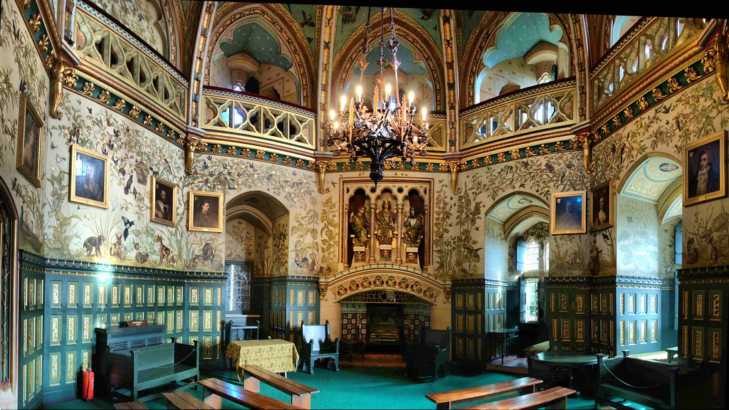 Castell Coch Drawing Room This Is A Stich From 8 Pics