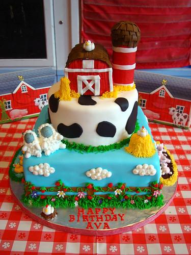 Barnyard Theme Cake Barnyard Theme Cake Jennifer