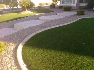 Fake grass - love it! Low maint, always looks good! | by Nick Bastian Tempe, AZ