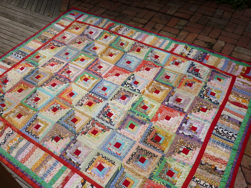 Vintage Log Cabin Quilt By My Mum My All Time Absolute