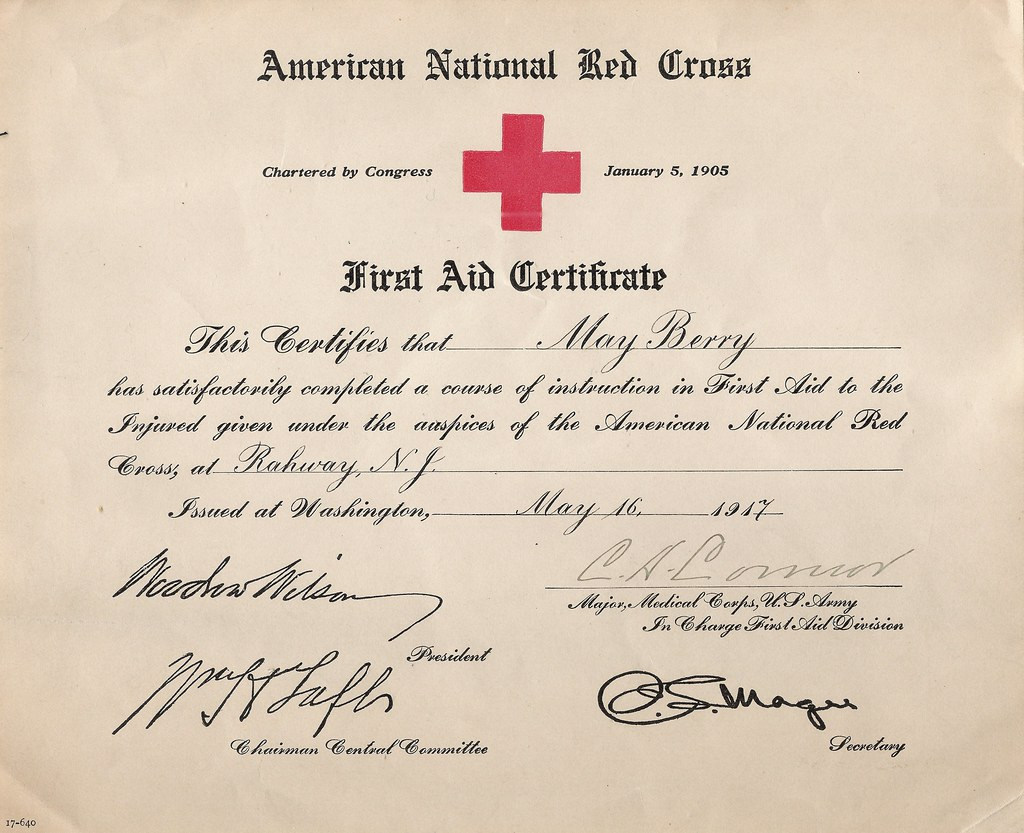American National Red Cross First Aid Certificate For Cor Flickr