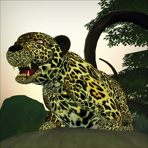 Crouching Jaguar: Jaguar, Crouching, Animated And Growls By ArchTx Edo